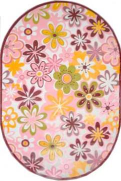 Ковер BONITA 3210 PMB Овал из Акрил производства Турция  в розово-фиолетовых, в желто-оранжевых цветах - фото М