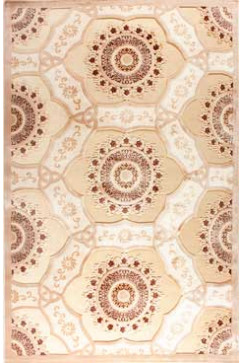 Ковер BONITA 2202 BEJ Прямоугольник из Акрил производства Турция  в бежево-кремовых, в коричневых цветах - фото М