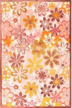 Ковер BONITA 3210 PMB Прямоугольник из Акрил производства Турция  в розово-фиолетовых, в желто-оранжевых цветах - фото М