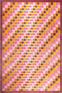 Ковер BONITA 3203 PMB Прямоугольник из Акрил производства Турция  в розово-фиолетовых, в желто-оранжевых цветах - фото М
