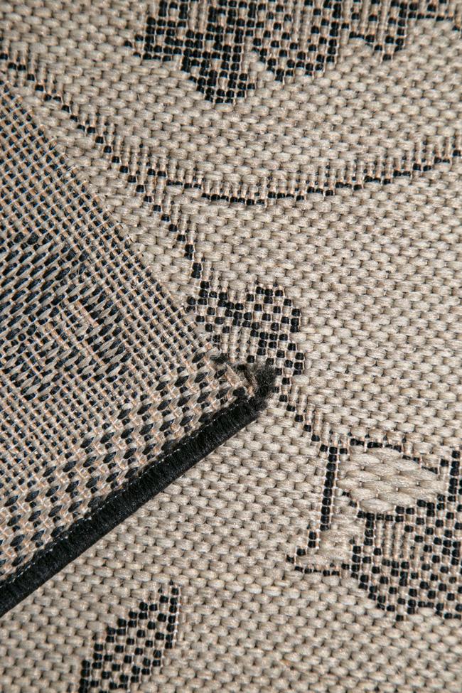 Ковровая дорожка COTTAGE 2744 sand-black-3901