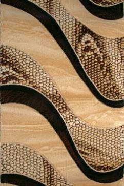 Дорожка FESTIVAL 6015A L.BEIGE/D.BROWN  из Полипропилен производства Турция  в коричневых цветах - фото М