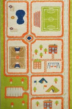 FULYA 8C44B 10678 Ковровая дорожка из полипропилена для детских комнат и игровых площадок. Удобны и легки в уборке.