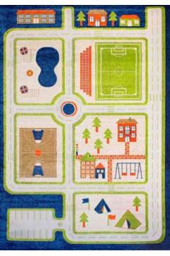 FULYA 8C44B 17048 Идеальный коврик в детскую комнату с разнообразными рисунками, не вызывает аллергию.