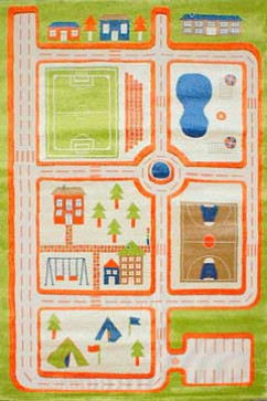 FULYA 8C44B 17049 Идеальный коврик в детскую комнату с разнообразными рисунками, не вызывает аллергию.
