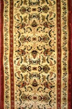 Дорожка SUPER ELMAS 1203C IVORY/D.RED  из Полипропилен производства Турция  в коричневых цветах - фото М