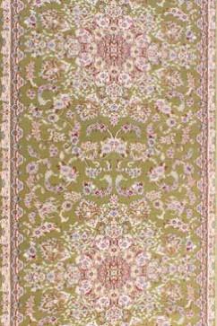 Дорожка ESFEHAN 5978A GREEN/IVORY  из Полипропилен производства Турция  в зелено-оливковых цветах - фото М