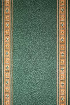 Дорожка EPOS IVORY/D.GREEN  из Полиамид производства Турция  в зелено-оливковых цветах - фото М