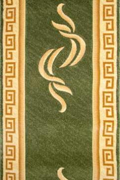 Дорожка EXELLENT OYMALI 2879B D.GREEN/CREAM  из Полипропилен производства Турция  в зелено-оливковых цветах - фото М
