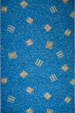 Дорожка KRETA BLUE  из Полиамид производства Бельгия  в сине-бирюзовых цветах - фото М