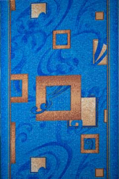 Дорожка P 1023/37 37  из Полиамид производства Беларусь  в сине-бирюзовых цветах - фото М