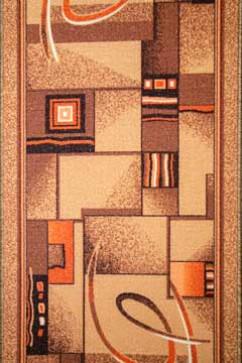 Дорожка P 1009/39 39  из Полиамид производства Беларусь  в желто-оранжевых, в коричневых цветах - фото М