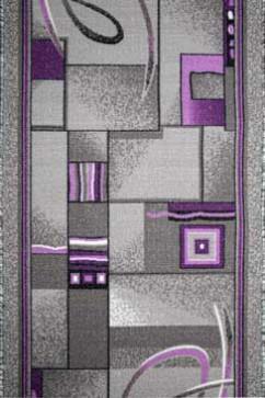 Дорожка P 1009/50 50  из Полиамид производства Беларусь  в серых, в розово-фиолетовых цветах - фото М