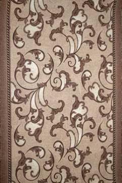 Дорожка P 1288/93 93  из Полиамид производства Беларусь  в бежево-кремовых, в коричневых, в серых цветах - фото М