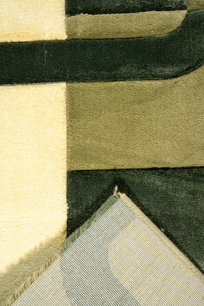 Ковровая дорожка PLATON green-beige