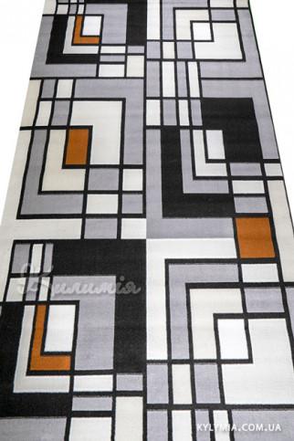 Ковровая дорожка ALMIRA 4124 grey-black