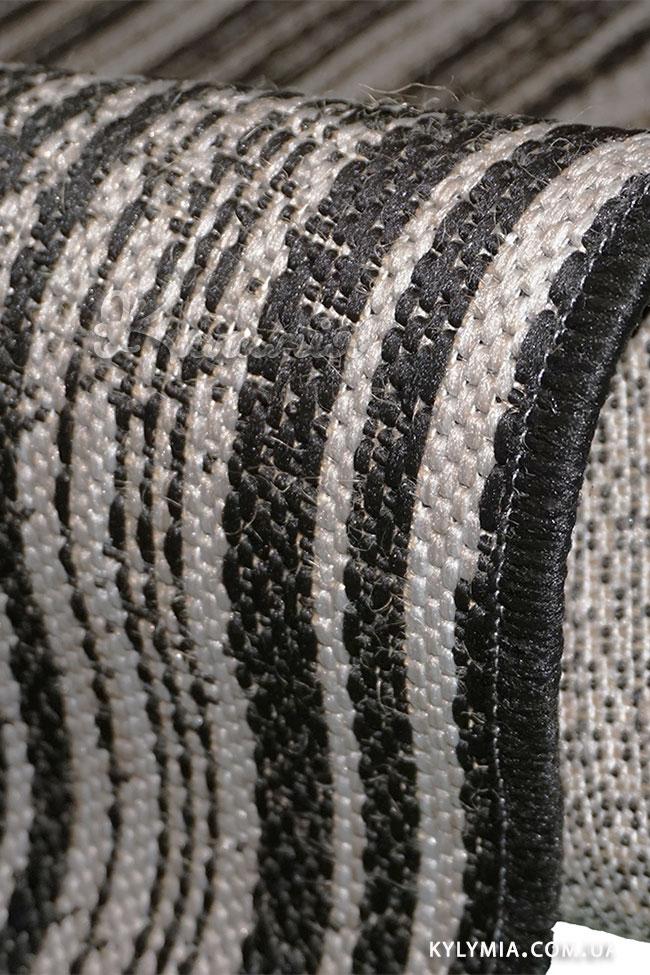 Килим NATURA 20488 black-silver