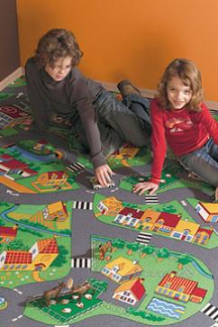 LITTLE VILLAGE 90 11210 Ковролин с невысоким ворсом. Послужит игровой площадкой для детских комнат и учреждений.