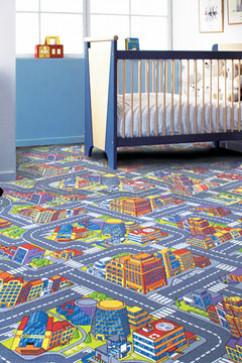 BIG CITY 97 15337 Ковролин с невысоким ворсом. Послужит игровой площадкой для детских комнат и учреждений.