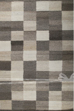 OVER LAP CHECKER 1877 Индийский натуральный шерстяной ковер ручного плетения в натуральных красках.Теплый, добротный.