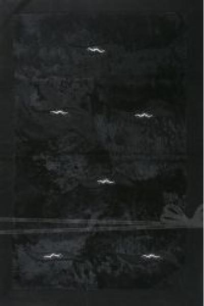 Килим WOOL 16028-08 black