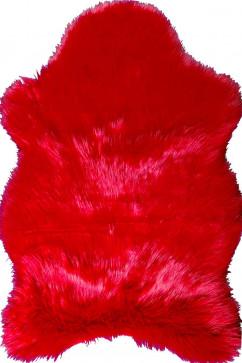 """A-POST kirmizi 18171 Шкуры из искусственного меха """"под овчину"""". Могут служить как ковриком, так и модным  декором."""