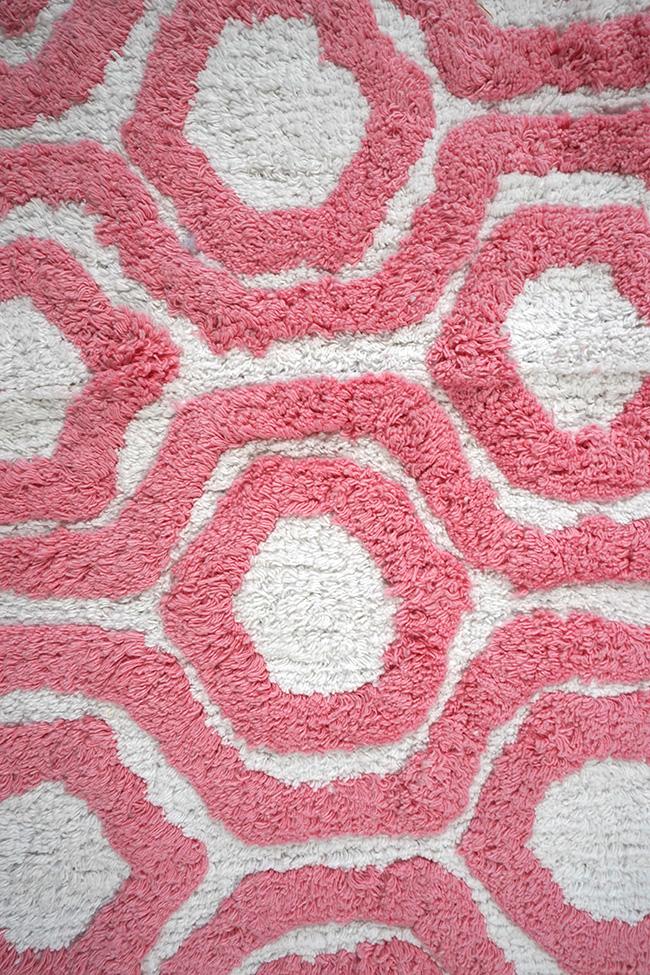 Килимок NUTS-5232 pink-white