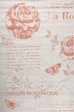 Ковер COTTAGE 5066 WOOL/TERRA/8Z01 Прямоугольник из Полипропилен производства Бельгия  в желто-оранжевых цветах - фото М