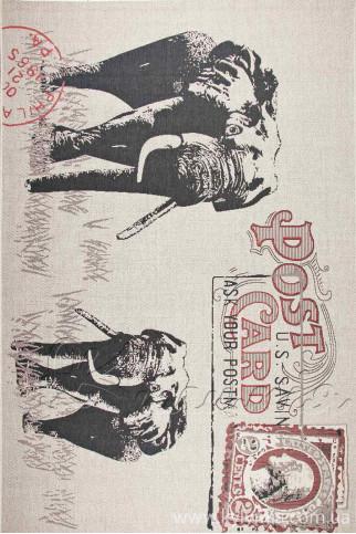 Килим LODGE 4708 sand-red-6g17