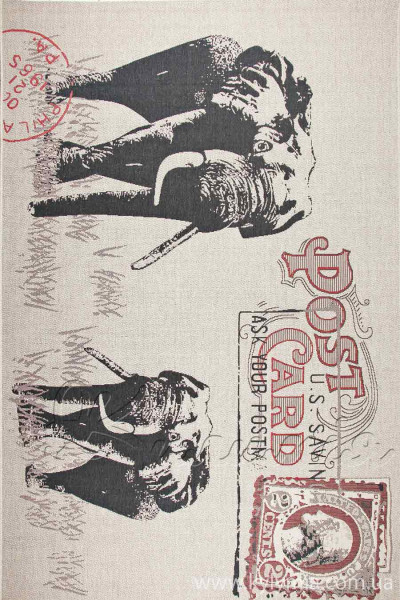 Ковер LODGE 4708 sand-red-6g17