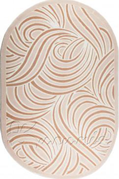 Ковер BOYUT 0013 BEJ Овал из Акрил производства Турция  в коричневых цветах - фото М
