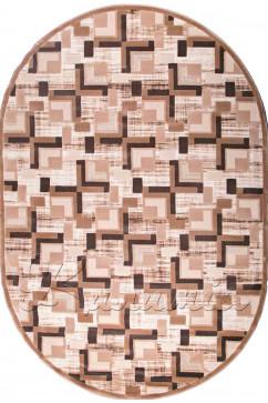 Ковер BOYUT 0014 BEJ Овал из Акрил производства Турция  в коричневых цветах - фото М