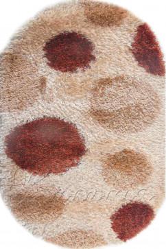 Ковер BUTIK 0002-37 KMK Овал из Полиэстер производства Турция  в бежево-кремовых, в коричневых цветах - фото М