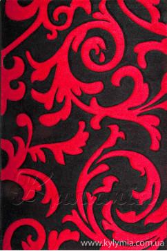 Ковер CALIFORNIA 0098 BRD Прямоугольник из Полипропилен производства Турция  в красно-бордовых, в черных цветах - фото М