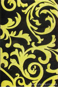 Ковер CALIFORNIA 0098 SYH Прямоугольник из Полипропилен производства Турция  в зелено-оливковых, в черных цветах - фото М