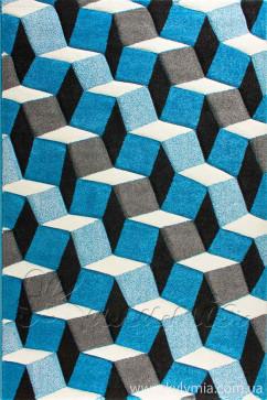 Ковер CALIFORNIA 0185 MAV Прямоугольник из Полипропилен производства Турция  в сине-бирюзовых цветах - фото М
