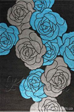 Ковер CALIFORNIA 0212 KMA Прямоугольник из Полипропилен производства Турция  в сине-бирюзовых, в черных цветах - фото М