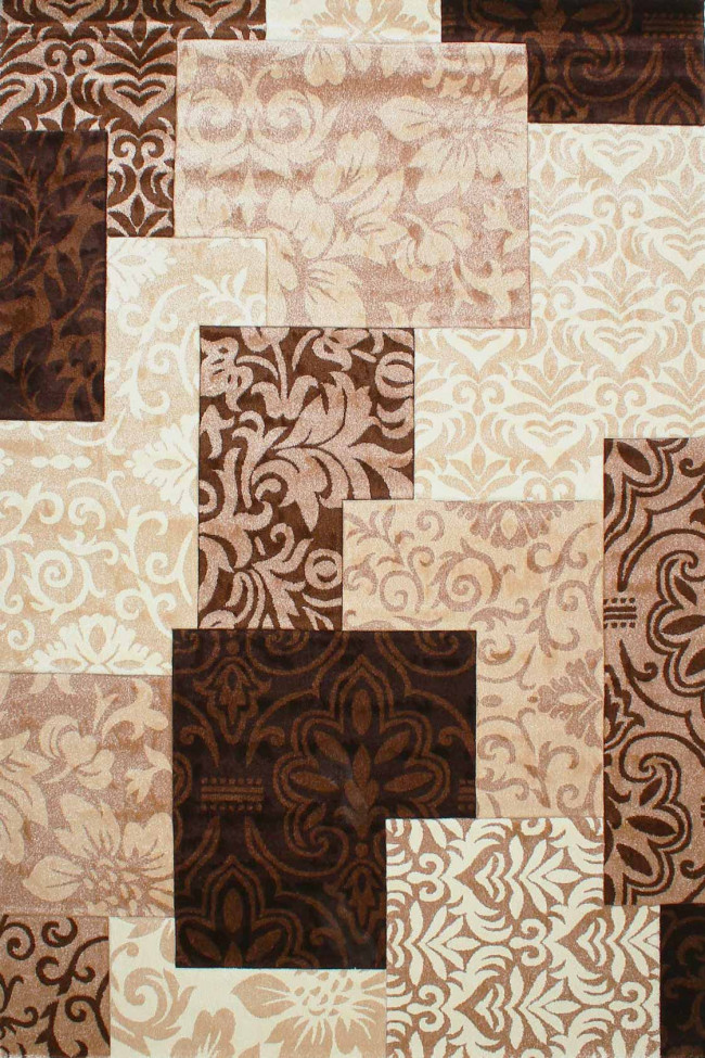 Ковер DAISY CARVING 8430A ivory-brown