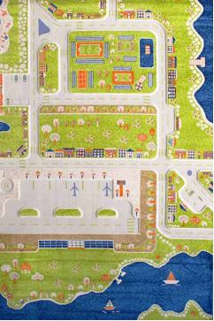 FULYA 8F86A 17051 Идеальный коврик в детскую комнату с разнообразными рисунками, не вызывает аллергию.