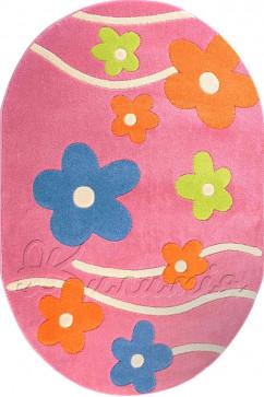 Ковер FULYA 8947A PINK Овал из Полипропилен производства Турция  в розово-фиолетовых цветах - фото М