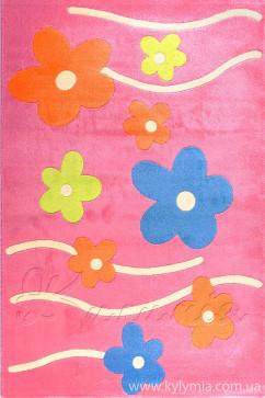 Ковер FULYA 8947A PINK Прямоугольник из Полипропилен производства Турция  в розово-фиолетовых цветах - фото М