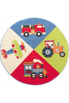 FULYA 8D64A 3477 Идеальный коврик в детскую комнату с разнообразными рисунками, не вызывает аллергию.