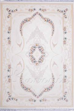 Ковер GALERIA G128A CREAM/CREAM Прямоугольник из Акрил производства Турция  в белых, в сине-бирюзовых цветах - фото М