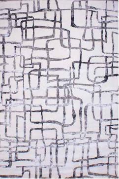 ALGA ALGA 15430 Индийский натуральный ковер из шерсти и вискозы, хорошо сохранит тепло и украсит интерьер.