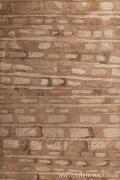Ковер PANACHE INGOT 1 BROWN Прямоугольник из Шерсть производства Индия  в коричневых цветах - фото М