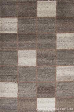 Ковер YUNLU-4 NATURAL Прямоугольник из Шерсть производства Индия  в коричневых цветах - фото М