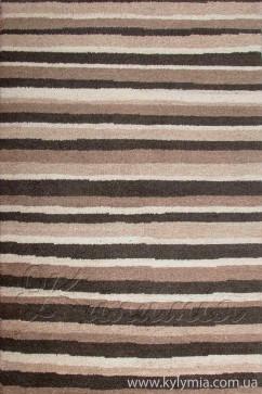 Ковер YUNLU-5 NATURAL Прямоугольник из Шерсть производства Индия  в бежево-кремовых, в коричневых цветах - фото М