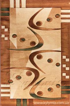 Ковер NIDAL 4358C L.BEIGE/BROWN Прямоугольник из Полипропилен производства Турция  в коричневых цветах - фото М