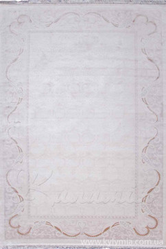 Ковер SAVOY M218A CREAM/CREAM Прямоугольник из Бамбук производства Турция  в белых, в бежево-кремовых цветах - фото М